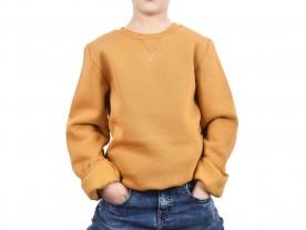 BOY'S HONEY MUSTARD CREW NECK SWEATSHIRT