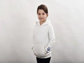 GIRL'S PORCELAIN WHITE HOODIE