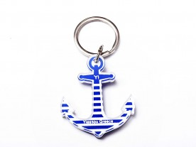PLEXI GLASS BLUE 'ANCHOR' KEYRING