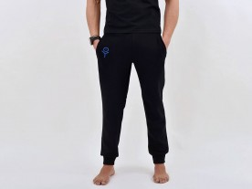 MEN'S JET BLACK RELAXED FIT JOGGERS