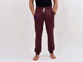 MEN'S STONEWASHED RED RELAXED FIT JOGGERS
