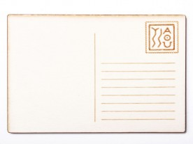 THE 'CAVALLA' WOODEN POST CARD