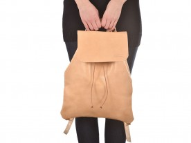 HANDMADE LEATHER NATURAL BACKPACK