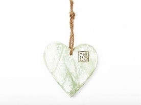 HANDMADE WOODEN GREEN 'HEART' DECOR