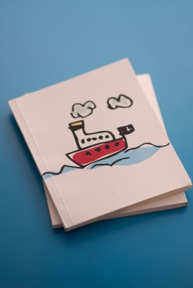"THE ""GREEK BOAT"" MINI NOTEBOOK"