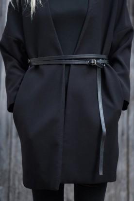 HANDMADE LEATHER BLACK WRAP AROUND