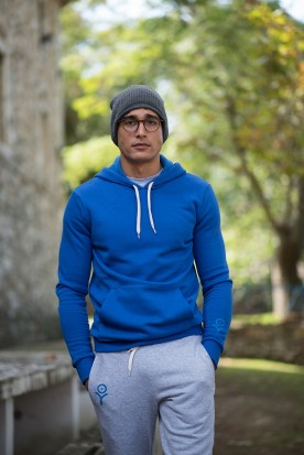 MEN'S ELECTRIC BLUE HOODIE