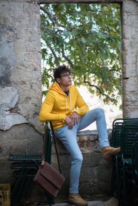 MEN'S SUNSHINE YELLOW FULL ZIPPER