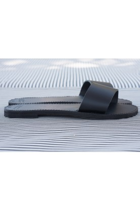 "WOMEN'S LEATHER ""SLIDE"" BLACK"