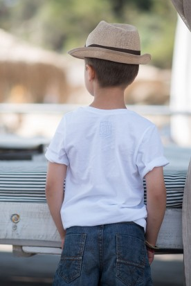 "KID'S T-SHIRT ""GREEK BOAT"" WHITE"
