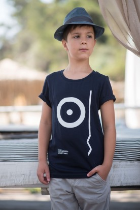 "KID'S T-SHIRT ""PROSOPO"" BLUE"
