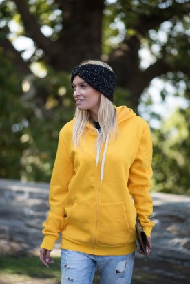 WOMEN'S SUNSHINE YELLOW FULL ZIPPER
