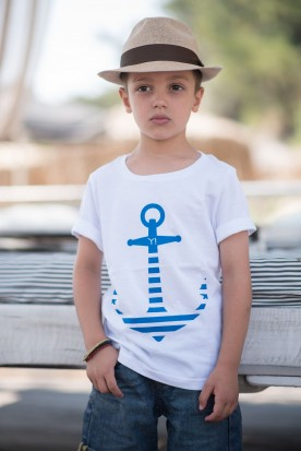 "KID'S T-SHIRT ""ANCHOR"" WHITE"