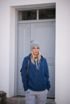 WOMEN'S AEGEAN BLUE FULL ZIPPER