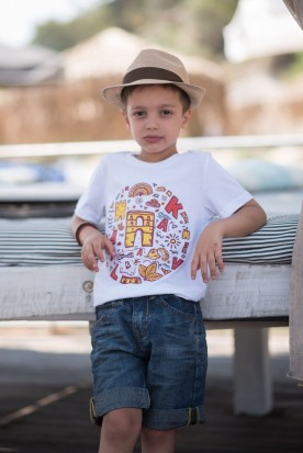 "KID'S T-SHIRT ""CAVALLA"" WHITE"