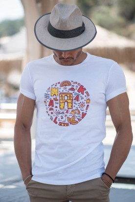 "MEN'S T-SHIRT ""CAVALLA"" WHITE"