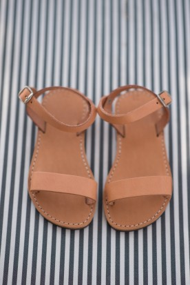 "KID'S  LEATHER SANDALS ""BASIC"""