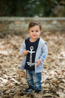 KID'S CLOUD GREY FULL ZIPPER