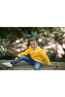 KID'S SUNSHINE YELLOW CREWNECK SWEATSHIRT