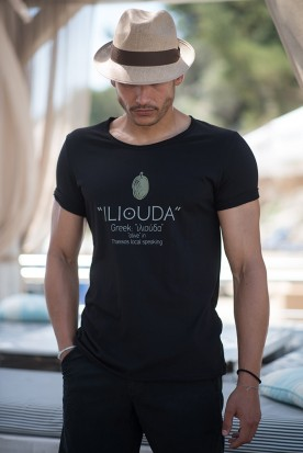 "MEN'S LOOSE SHIRT ""ILIOUDA"" BLACK"