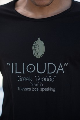 "MEN'S LOOSE SHIRT ""ILIOUDA"" BLACK"