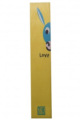 "THE ""HALF DONKEY"" WOODEN BOOKMARK YELLOW"