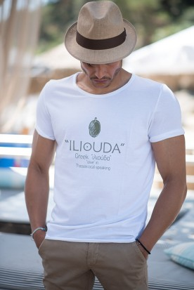 "MEN'S LOOSE SHIRT ""ILIOUDA"" WHIITE"