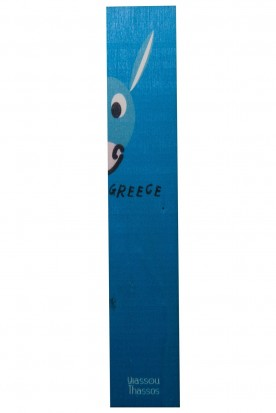 "THE ""HALF DONKEY"" WOODEN BOOKMARK BLUE"