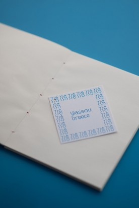 "THE WHITE AND BLUE ""KTSOUR"" MINI NOTEBOOK"