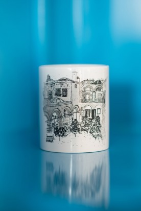 "THE BLACK AND WHITE ""IMARET"" MUG"