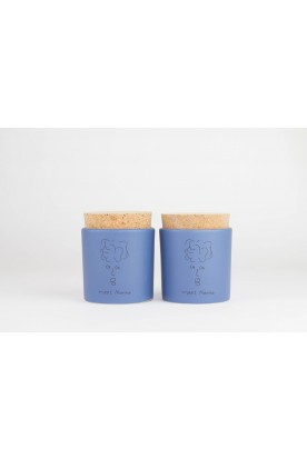 MEET MARIKA DEEP BLUE CERAMIC JAR SET