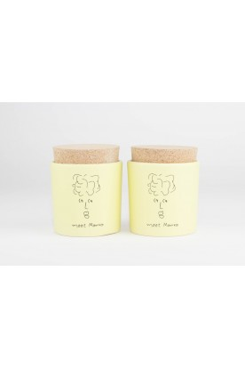 MEET MARIKA PALE YELLOW CERAMIC JAR SET