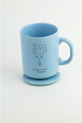 MEET MARIKA LIGHT BLUE CERAMIC MUG