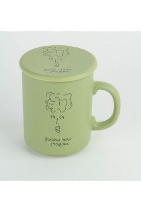 MEET MARIKA OLIVE GREEN CERAMIC MUG