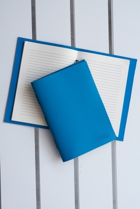 HANDMADE LEATHER MYKONIAN BLUE NOTEBOOK