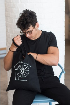 "THE ""WINDMILL"" SHOPPING BAG IN BLACK"