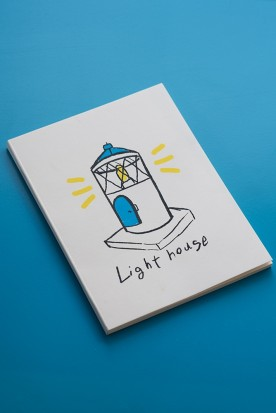 "THE ""LIGHTHOUSE"" WHITE MINI NOTEBOOK"