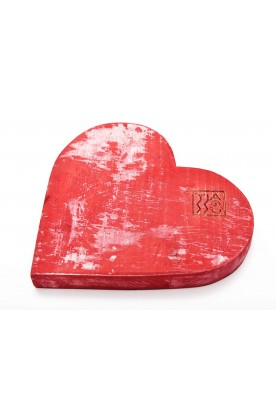 HANDMADE WOODEN RED 'HEART' DECOR