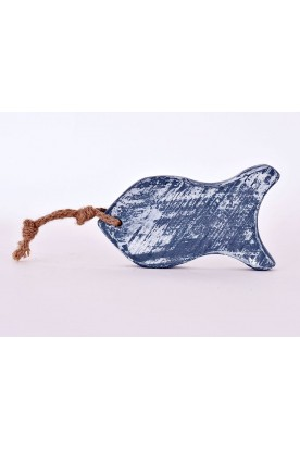 HANDMADE WOODEN BLUE 'FISH' DECOR