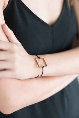 YIASSOU SILVER 925 ROSE GOLD PLATED SQUARE BRACELET