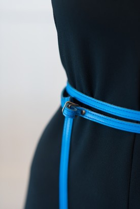 HANDMADE LEATHER MYKONIAN BLUE WRAP AROUND