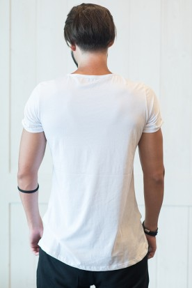 "MEN'S T-SHIRT NEW CUT ""WINDMILL"" WHITE"