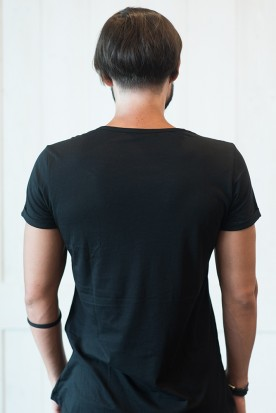 "MEN'S T-SHIRT NEW CUT ""WINDMILL"" BLACK"