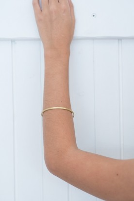 YIASSOU SILVER 925 GOLD PLATED BANGLE