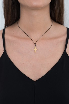 YIASSOU SILVER 925 GOLD PLATED CROSS NECKLACE