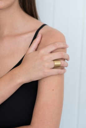 YIASSOU SILVER 925 GOLD PLATED RING