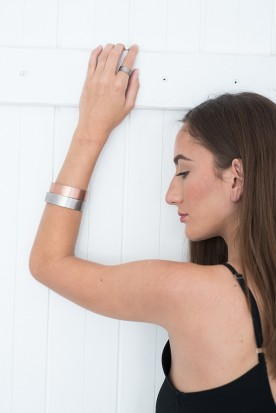 YIASSOU SILVER 925 ROSE GOLD PLATED CUFF
