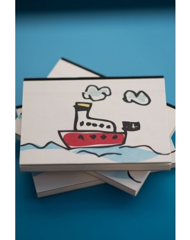 "THE ""GREEK BOAT"" HARDCOVER NOTEBOOK"