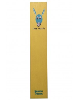 "THE ""DONKEY"" WOODEN BOOKMARK YELLOW"