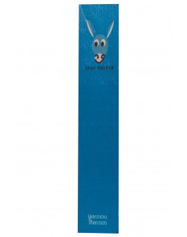 "THE ""DONKEY"" WOODEN BOOKMARK BLUE"